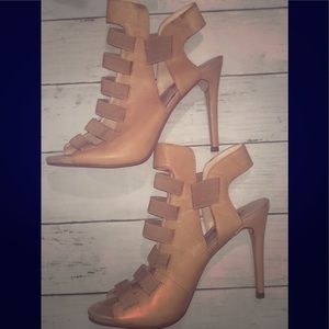 Guess Nude Genuine Leather Heels 9.5